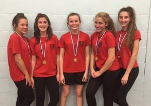 Yr 8 girls basketball district winners Feb 2016