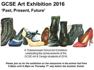 GCSE Exhibition Invite - July 2016